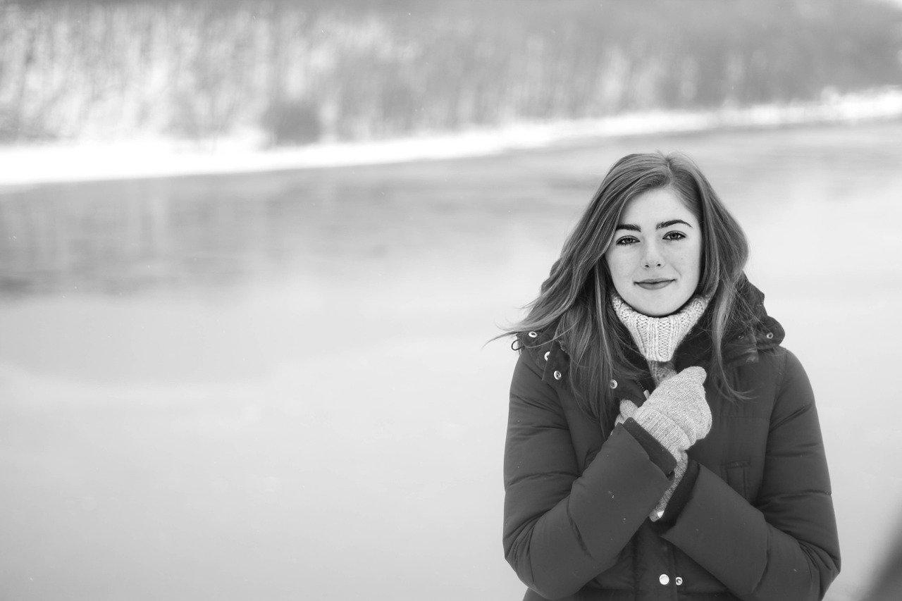 cold, black and white, fashion